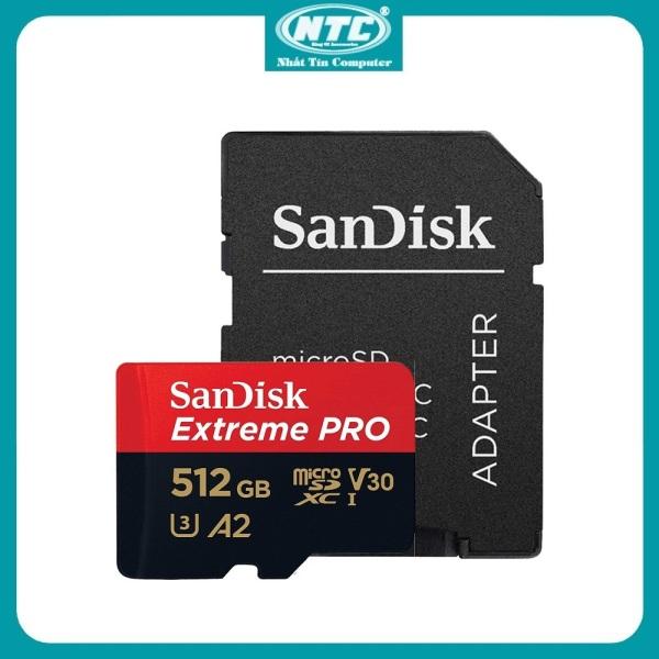 Thẻ nhớ MicroSDXC SanDisk Extreme Pro V30 U3 4K A2 512GB R170MB/s W90MB/s (Đen đỏ) - Nhất Tín Computer