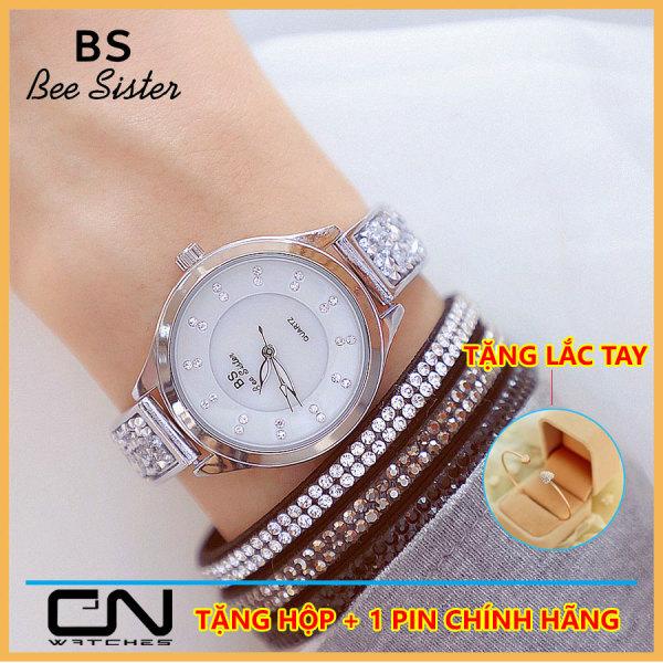 Đồng hồ nữ Bs Bee Sister dây lắc đính đá cao cấp