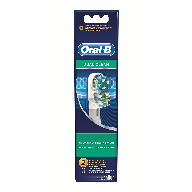 Hộp 2 Đầu Bàn Chải Oral-B Dual Clean - Made In Germany