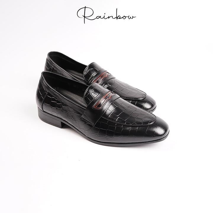 Giày Loafer da thật cao cấp thương hiệu Rainbow RBMLS 001 - Bảo hành 3 năm