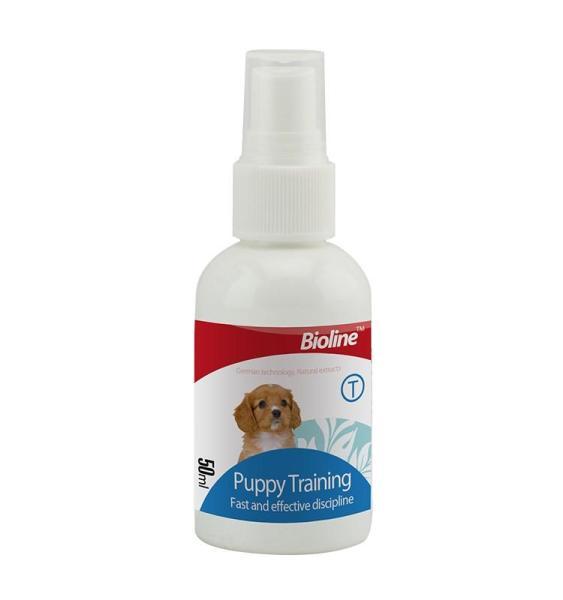 Xịt Vệ Sinh Đúng Chỗ Dậy Chó Đi Vệ Sinh Đúng Chỗ Bioline Puppy Trainer 50ml