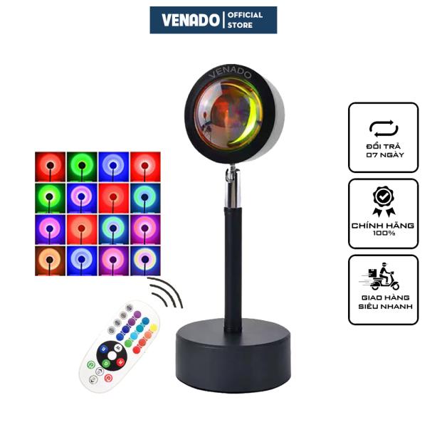 Bảng giá Đèn chiếu cầu vồng sống ảo tik tok 16 màu có điều khiển từ xa và loại 4 màu cực hot 2021 Venado