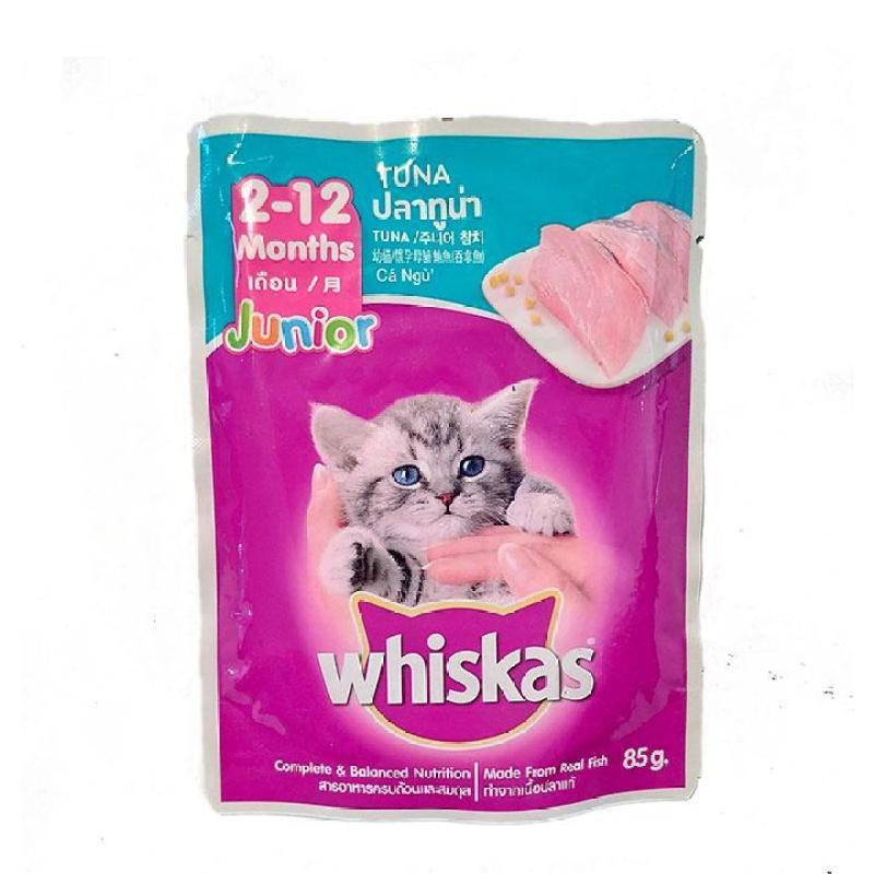 Whiskas Junior 85g Pate cho mèo con vị Cá Ngừ - CutePets