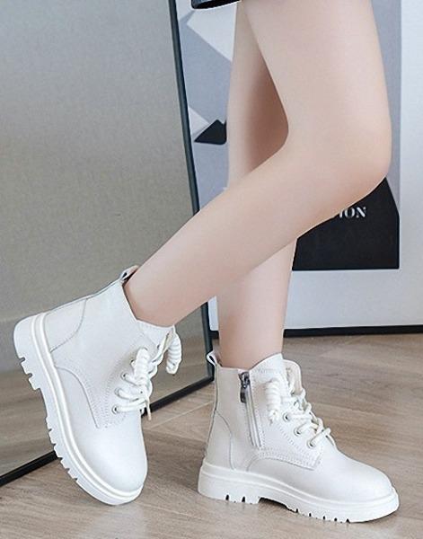 Giày bốt bé gái, khóa kéo phá cách, tôn dáng, đế mềm, Phong Cách Hàn Quốc BC38