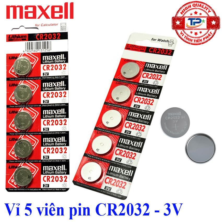 Mã Giảm Giá Khi Mua Vỉ 5 Viên Pin CMOS CR2032 Maxell Lithium Battery 3V