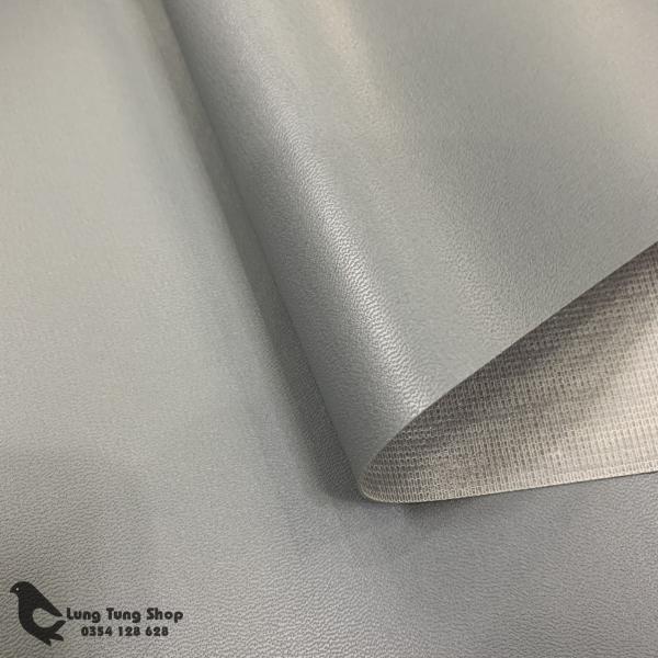 Vải da simili - Vải giả da màu xám khổ 1,4m ( HÌNH ẢNH DO SHOP TỰ CHỤP )