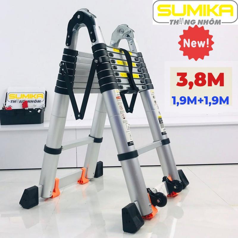 Thang nhôm rút đôi chữ A 3,8m Sumika SK380D NEW