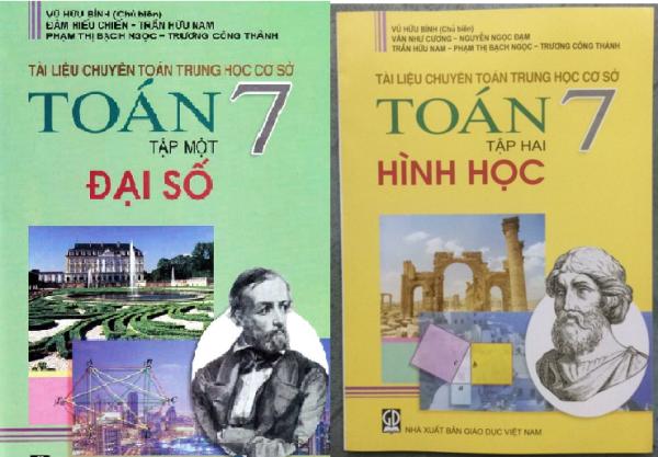 Mua Sách - Tài liệu chuyên toán trung học cơ sở Toán 7 Đại số và Hình học