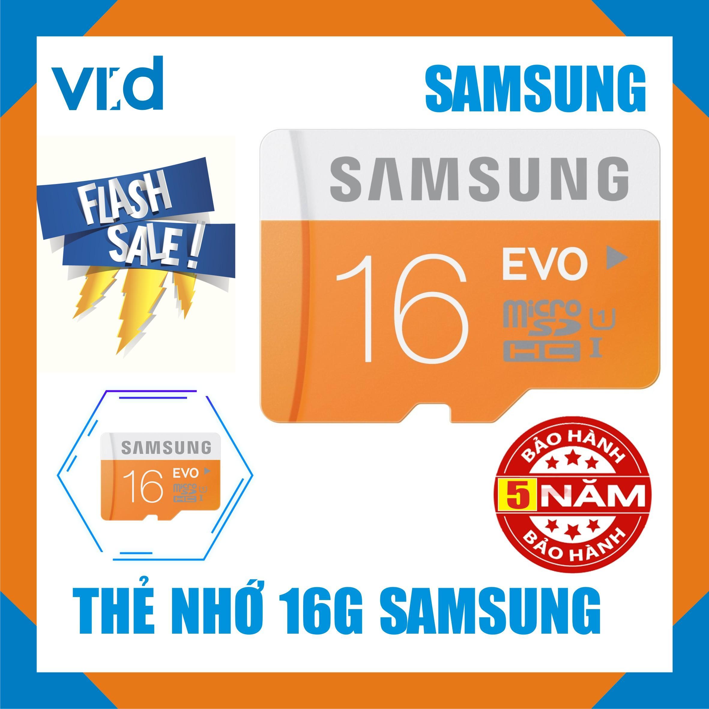 Thẻ nhớ SamSung MircoSDXC UHS I-Card 16GB - Bảo hành 5 năm