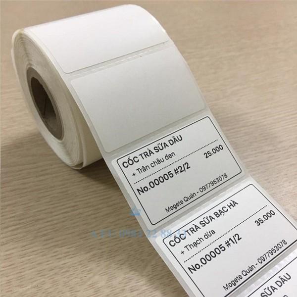Mua Giấy in tem trà sữa Foody 52x33 mm-decal nhiệt 5.2x3.3 cm tem 52x33 cam kết hàng đúng mô tả chất lượng đảm bảo an toàn đến sức khỏe người sử dụng