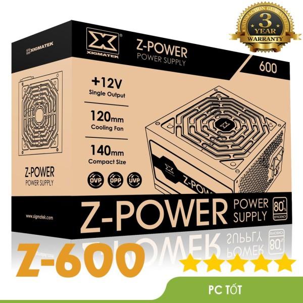 Bảng giá Nguồn máy tính Xigmatek Z-POWER 600 EN45945 - 500w Hiệu suất 80 plus white (Z600) Phong Vũ