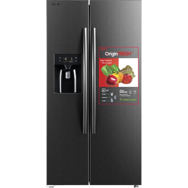 Tủ lạnh Toshiba Inverter 493 Lít GR-RS637WE-PMV(06).Tủ lạnh 493 lít đáp ứng tốt nhu cầu bảo quản thực phẩm Công nghệ Dual Inverter giúp giảm thiểu chi phí điện năng Chức năng lấy nước từ bên ngoài vô cùng tiện dụng cho bạn