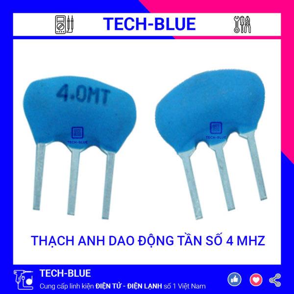 Bảng giá Combo 10 con Thạch anh dao động gốm 3 chân tần số 4 Mhz giá rẻ TECHBLUE TA4M