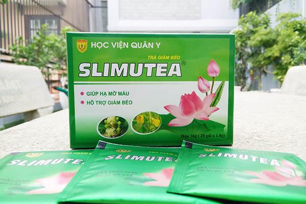 Trà giảm béo Slimutea học viện quân y hỗ trợ giảm béo, hạ mỡ máu -TBYT Quang Hà cao cấp