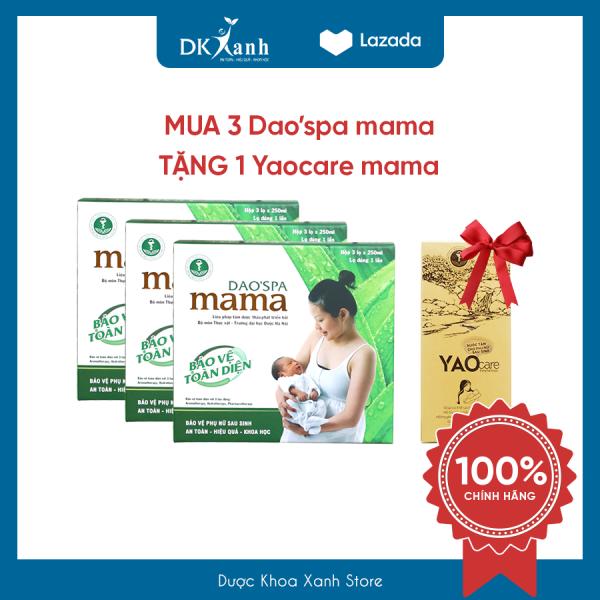Combo 3 hộp Daospa mama TẶNG 1 hộp xông hơ vùng kín Yaocare mama - DK PHARMA