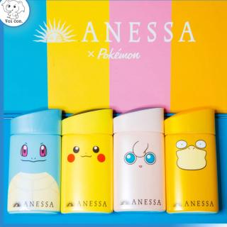 (Mẫu mới) 60ml Kem chống nắng Anessa Shiseido Pokémon Co-branded 2021 Limited UV milk Nhật Bản thumbnail