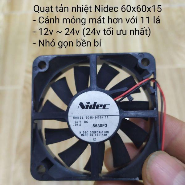 Bảng giá Quạt tản nhiệt Nidec 60x60x15 cánh mỏng 11 lá Điện máy Pico