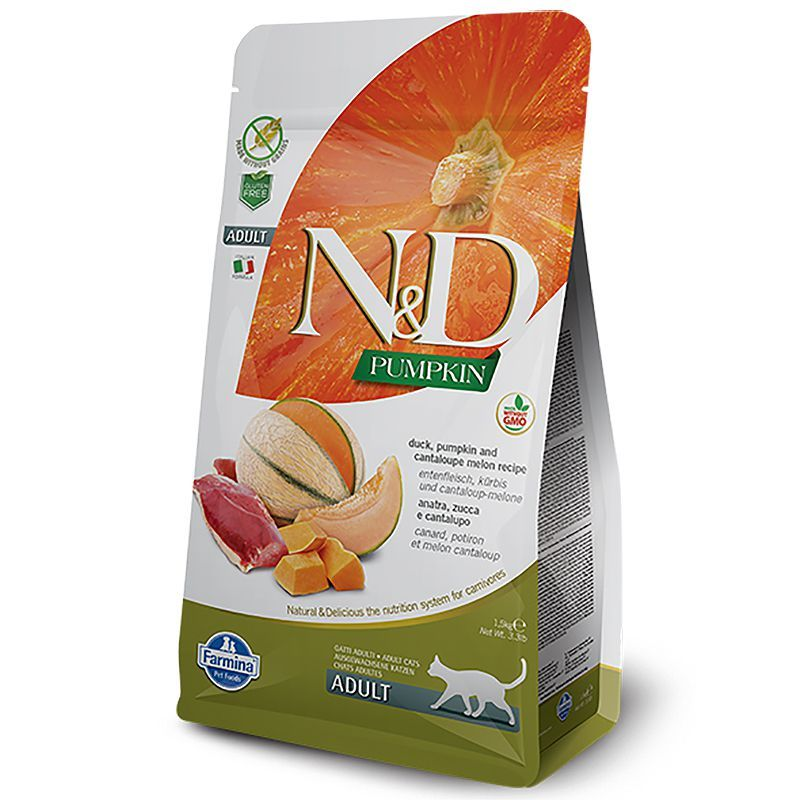 Farmina - N&D PUMPKIN CAT duck, cantaloupe melon adult 1.5kg