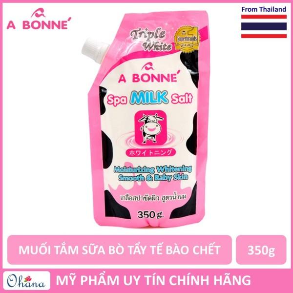 Muối Tắm Sữa Bò tẩy Tế Bào Chết A Bonne Spa Milk Salt Thái Lan 350gr cao cấp