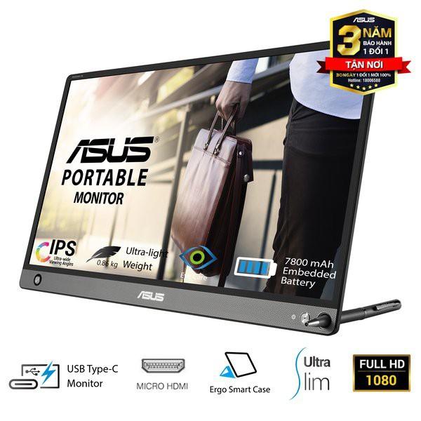 """Màn Hình Di Động ASUS ZenScreen MB16AHP 15.6"""" IPS chống chói Full HD Pin 7800mAh USB Type-C Micro-HDMIloa 1W*2"""