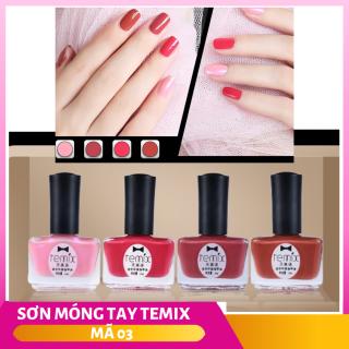 Bộ 4 màu sơn móng tay Sticker cao cấp Temix 7ml (tặng kèm bộ đá đính móng cao cấp) - đủ màu siêu hot 2019 - SMT003 thumbnail