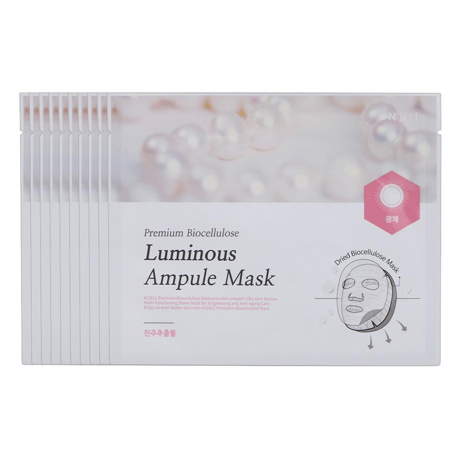 COMBO 10 Mặt Nạ Lụa Sinh Học Cao Cấp PremiumBio Cellulose Luminous Ampule ( Nuôi dưỡng da và Trị Nám da  Làm Sáng Da Chiết Xuất Từ Ngọc Trai) tốt nhất