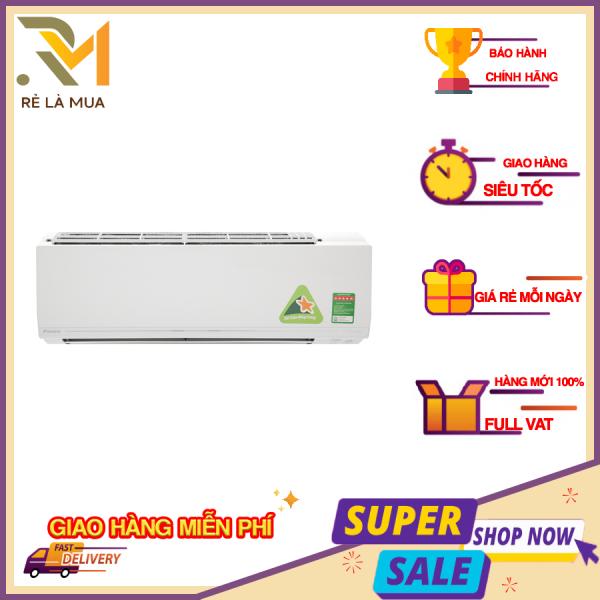 Máy lạnh Daikin Inverter 2.5 HP FTKC60UVMV - Công suất làm lạnh 20.500 BTU - Mắt thần thông minh - Công nghệ làm lạnh nhanh Powerful