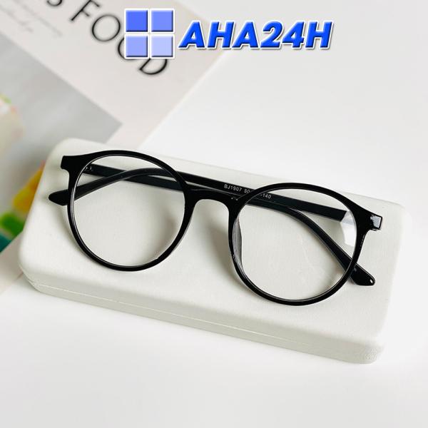 Giá bán [HCM]Kính Thời Trang AH143 - Mắt kính nam nữ giả cận Ngố Tata Tròn Thời Trang Xin Xắn