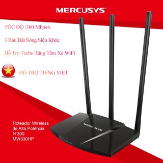 (BẢO HÀNH 2 NĂM)Bộ phát wifi xuyên tường tốc độ cao Mercusys MW330HP chuẩn N 300Mbps, hỗ trợ 3 anten thu phát sóng siêu xa thumbnail