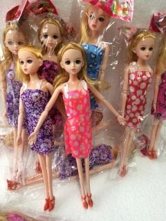 Búp bê baby Khớp mặt xinh, đủ mẫu váy, model 801-1 5,30x15cm, chất liệu nhựa nguyên sinh ABS an toàn tuyệt đối 1
