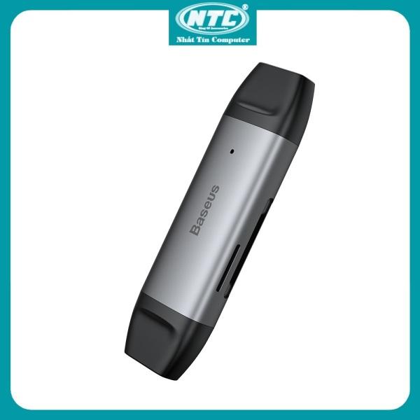 Bảng giá Đầu đọc thẻ nhớ đa năng Baseus Lentil Cabin CADKQ-B0G (Type C / USB3.0  SD/TF Card 5Gbps High speed) (Xám) - Nhất Tín Computer Phong Vũ