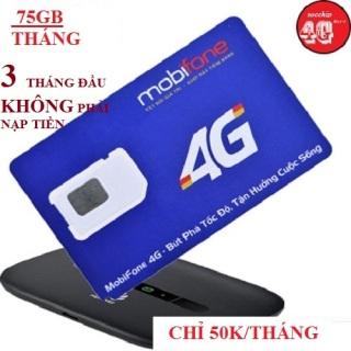 SIM 4G MOBIFONE 75GB THÁNG TỐC ĐỘ CAO (3 THÁNG ĐẦU KHÔNG PHẢI NẠP TIỀN) thumbnail