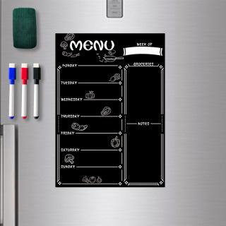 Bảng nam châm tủ lạnh sáng tạo có thể viết lịch trình dán trên tủ lạnh khổ A4 dễ dàng sử dụng thumbnail
