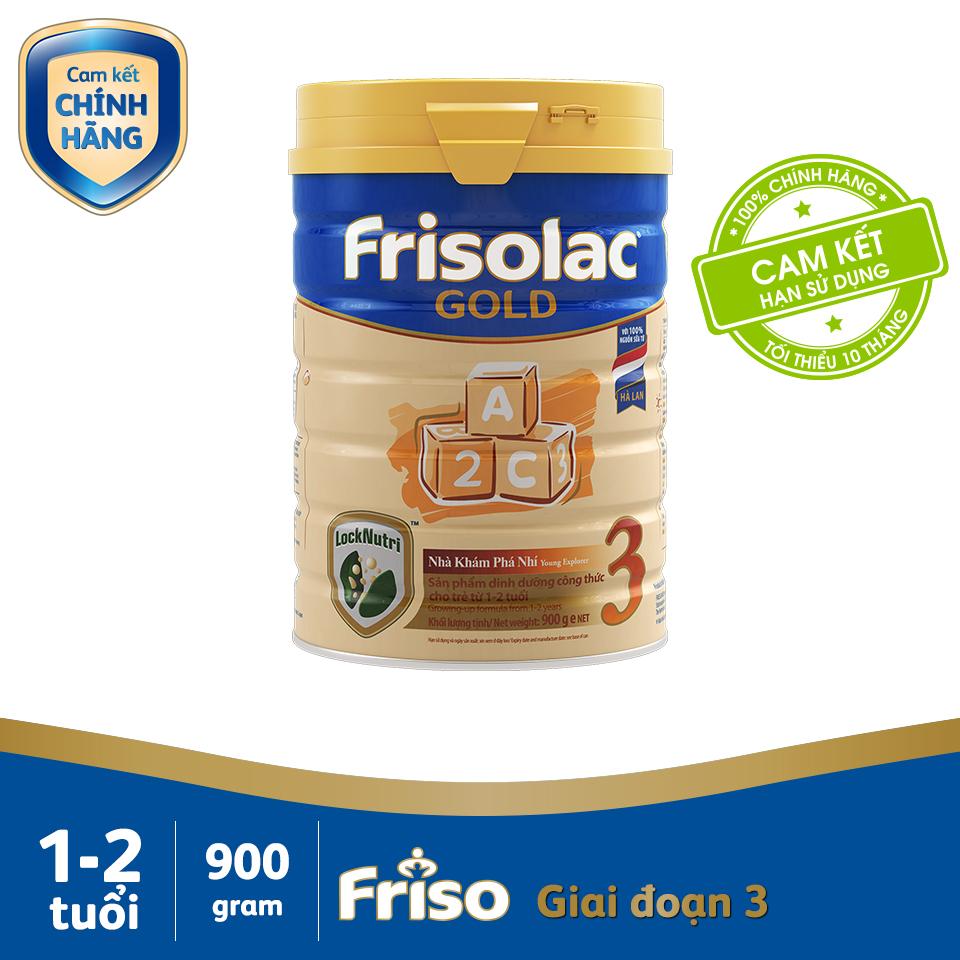 Sữa Bột Friso Gold 3 900g Chứa Thành Phần Synbiotics Giúp Hỗ Trợ Tiêu Hóa
