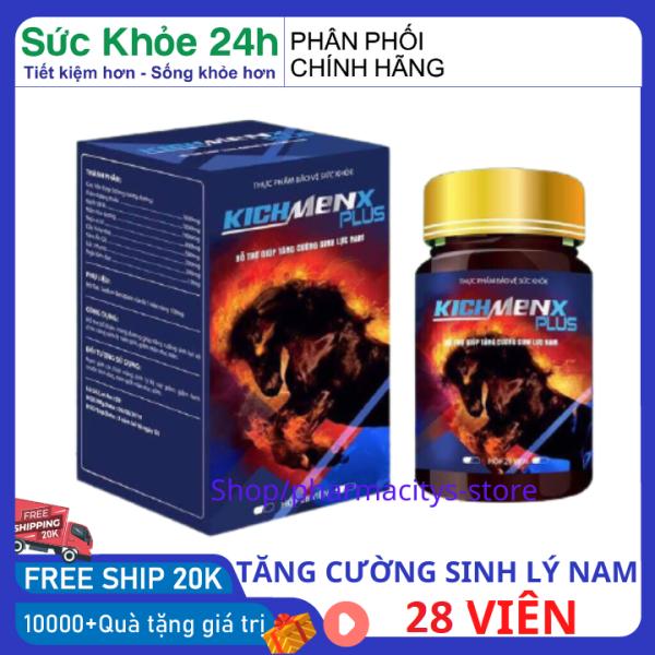 Tăng cường sức khỏe nam giới tăng sinh lý nam kéo dài thời gian quan hệ KICHMENX PLUS 28 viên - tăng cường tinh trùng , uống tăng thời gian quan hệ thảo dược tăng sinh lý pharmacity