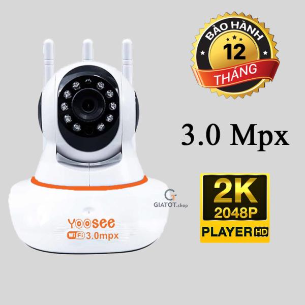 (HÀNG CHÍNH HÃNG)CAMERA YOOSE 3 ANTEN 3.0 THẾ HỆ MỚI- Camera Wifi- Mạng LAN- Tích Hợp Micro: Nghe Được Âm Thanh Khi Xem HÌNH ẢNH SẮC NÉT FULL HD 1080P-KẾT NỐI KHÔNG DÂY WIFI- CẢM BIẾN HỒNG NGOẠI XEM ĐÊM– DỄ CÀI ĐẶT.