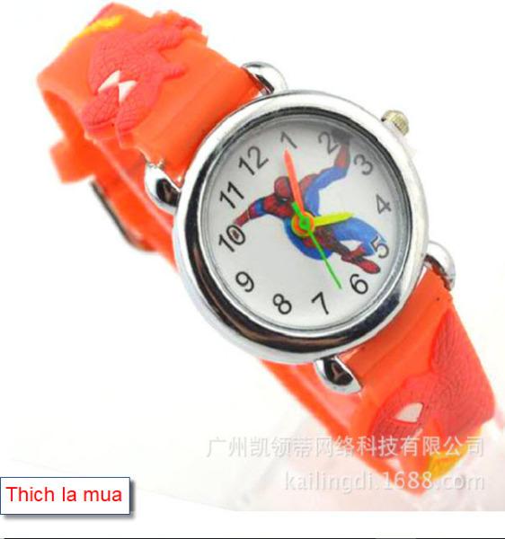 Nơi bán Đồng hồ đeo tay siêu nhân cho bé trai hình người nhện