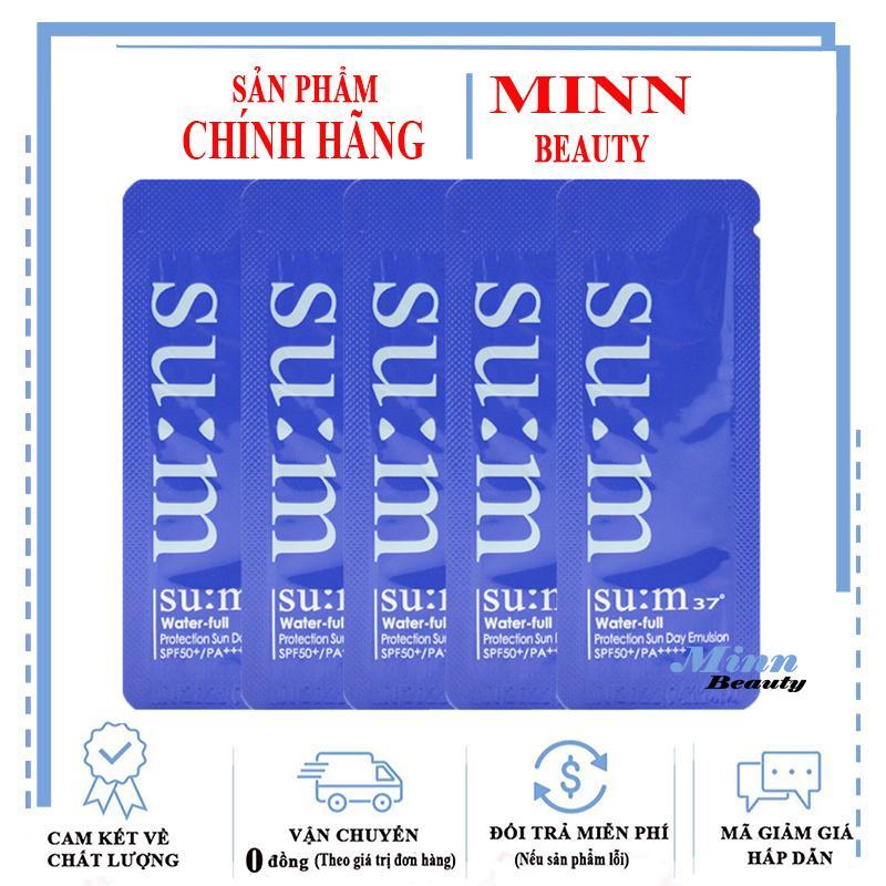 Combo 5 Sample Kem Chống Nắng Su:m37 Water-full Protection Sun Day Emulsion Spf50/PA++++1mlx5 Giảm Cực Đã