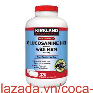 [375 viên] Glucosamine HCL 1500mg Kirkland With MSM 1500mg - Chống thoái hóa xương khớp thumbnail