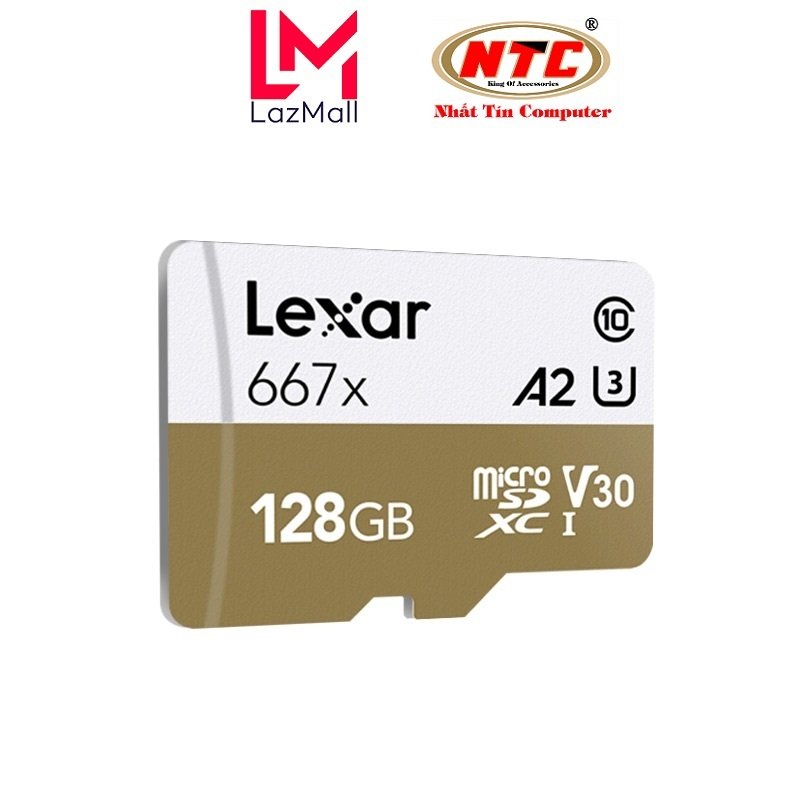 Thẻ Nhớ MicroSDXC Lexar Professional 667X V30 U3 4K A2 128GB R100MB/s (Vàng) - Không Box - Nhat Tin Certified Store