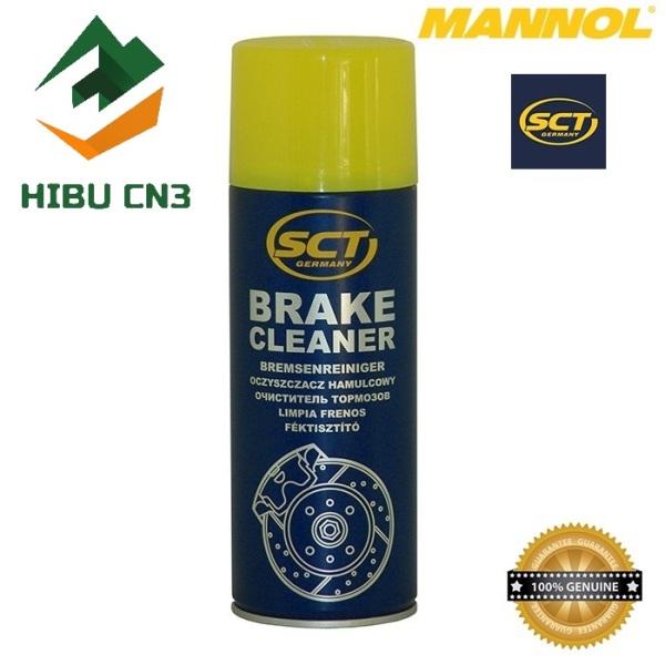 Chai Vệ Sinh Hệ Thống Phanh Xe 2 Bánh, 4 Bánh MANNOL 969251 SCT-Brake Cleaner 450ML Bremsenreiniger – HIBU CN3