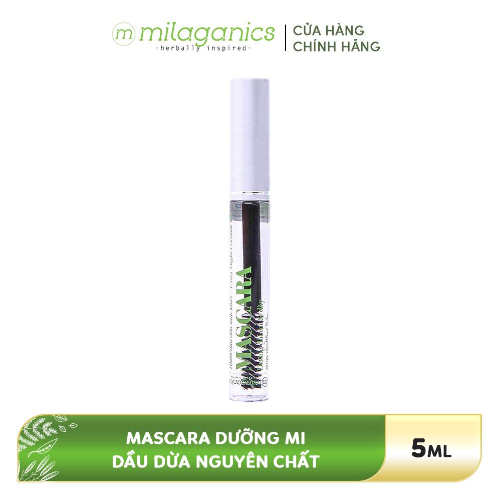 Mascara Dưỡng Mi Dầu Dừa MILAGANICS 5ml dưỡng mi chắc khỏe, dài tự nhiên, mang đến cho bạn bờ mi dài và dày, thu hút mọi ánh nhìn.
