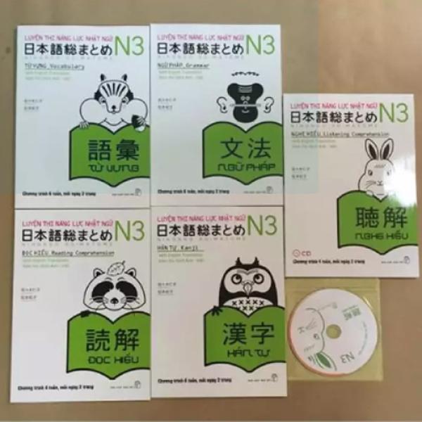 Sách Luyện thi tiếng Nhật trọn bộ Soumatome N3 (5 cuốn)