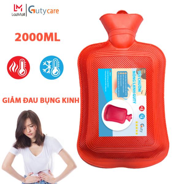 Túi chườm giảm đau bụng kinh, chườm nóng lạnh Guty, túi giữ nhiệt đa năng giúp trườm giảm đau do chấn thương, đau lưng, hông, sưởi ấm, giảm sốt - Dung tích 2 lít - Guty Care