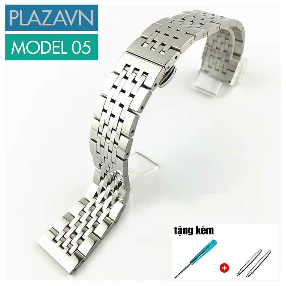 Nơi bán (size 20mm) Dây đồng hồ thép không gỉ model 05 kiểu khóa bấm chống han gỉ chống bay màu