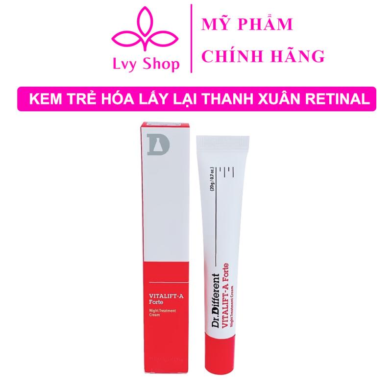 Kem Retinal Dr Different Vita A Cream 0.1% Hàn Quốc 20gr Lvy Shop chống lão hóa căng bóng da lấy lại thanh xuân giá rẻ