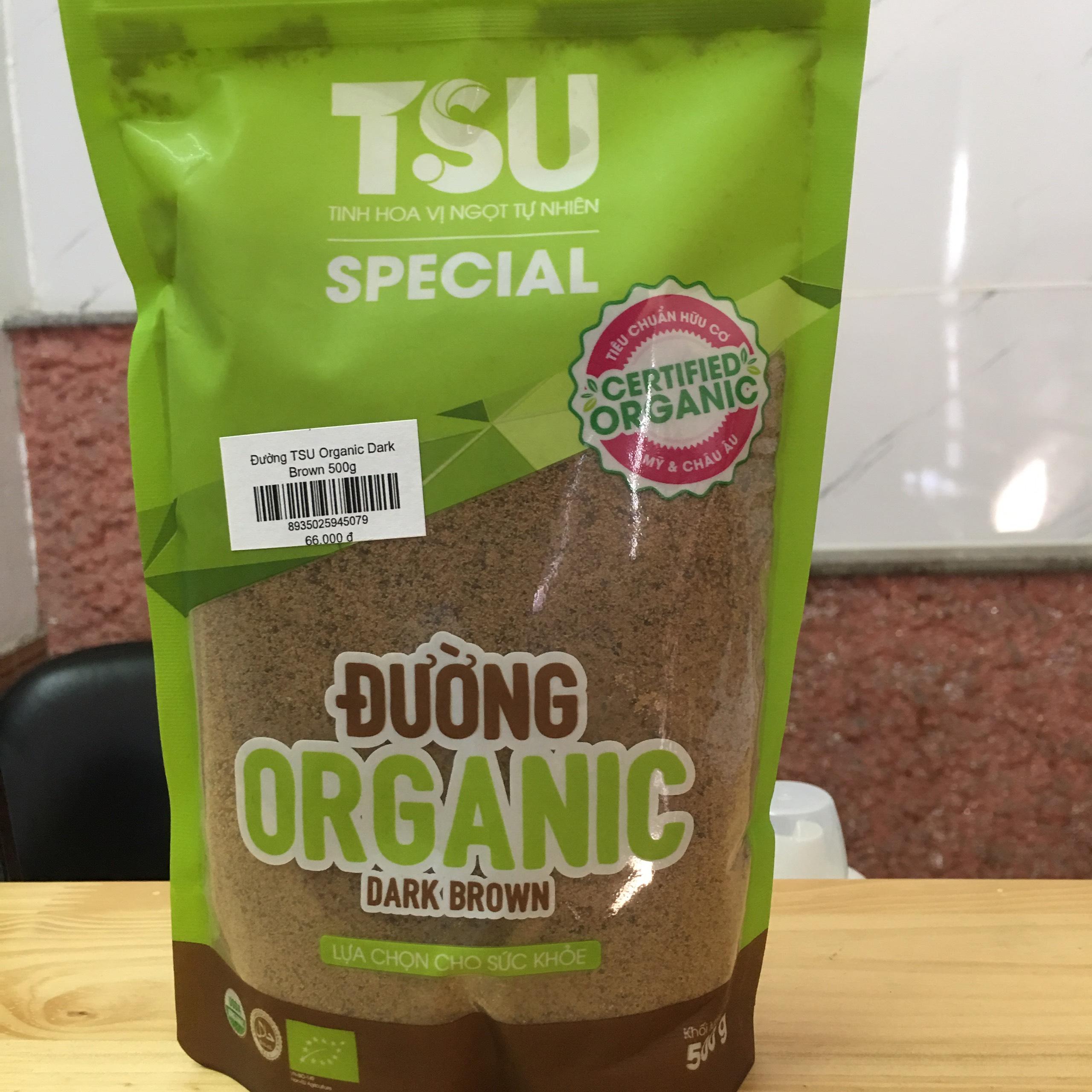 Đường TSU Organic Dark Brown 500g