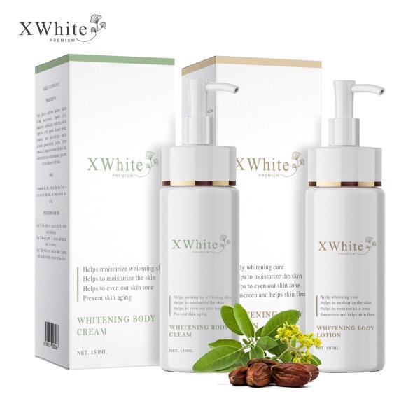 Bộ tắm trắng toàn thân an toàn Xwhite dạng vòi nhấn gồm 1 chai ủ trắng 150ml & 1 chai dưỡng trắng 150ml giá rẻ