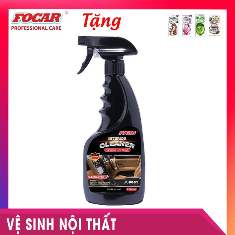Dung dịch vệ sinh nội thất khử mùi Focar Interior Cleaner 500ml - Tặng  Power Air