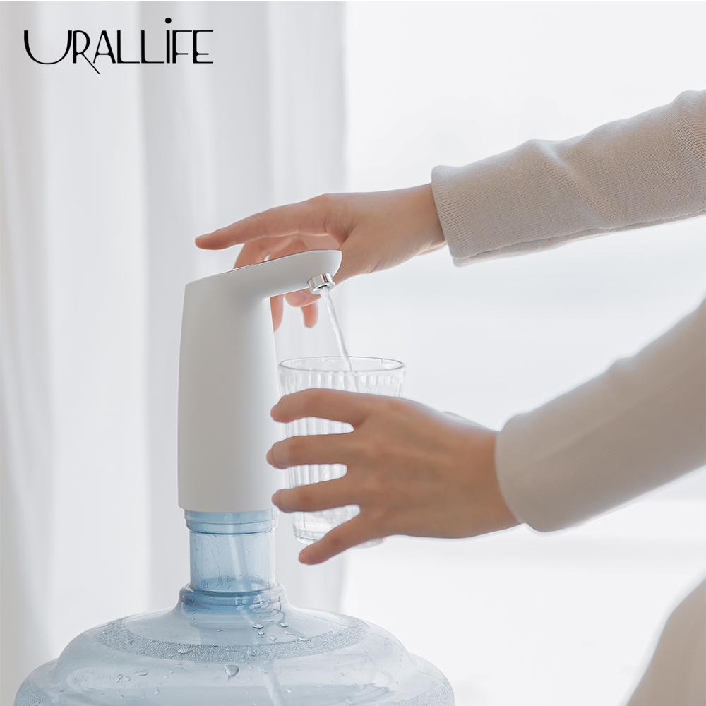 Máy bơm nước Uareliffe Tự động, USB Mini, Có nút cảm ứng - Máy lọc nước có thể sạc lại không dây/Máy bơm nước với cáp USB - INTL